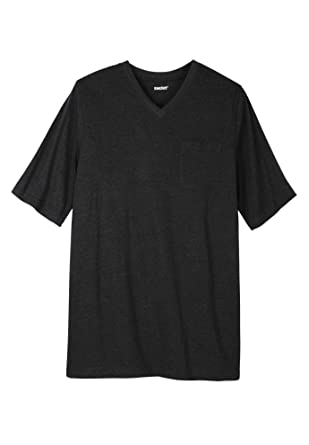 0a04b395745c KingSize Men's Big & Tall Shrink-Less Lightweight Longer-Length V-Neck T- Shirt | Amazon.com