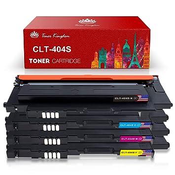Toner Kingdom Cartucho de tóner Compatible Samsung CLT-P404C / CLT ...