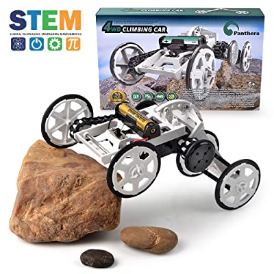 Panthera Grp 4WD Climbing Car Building Toys for Kids - Science Engineering Buildings Educational Electronic Game for Boys & Girls Age 8+: Toys & Games