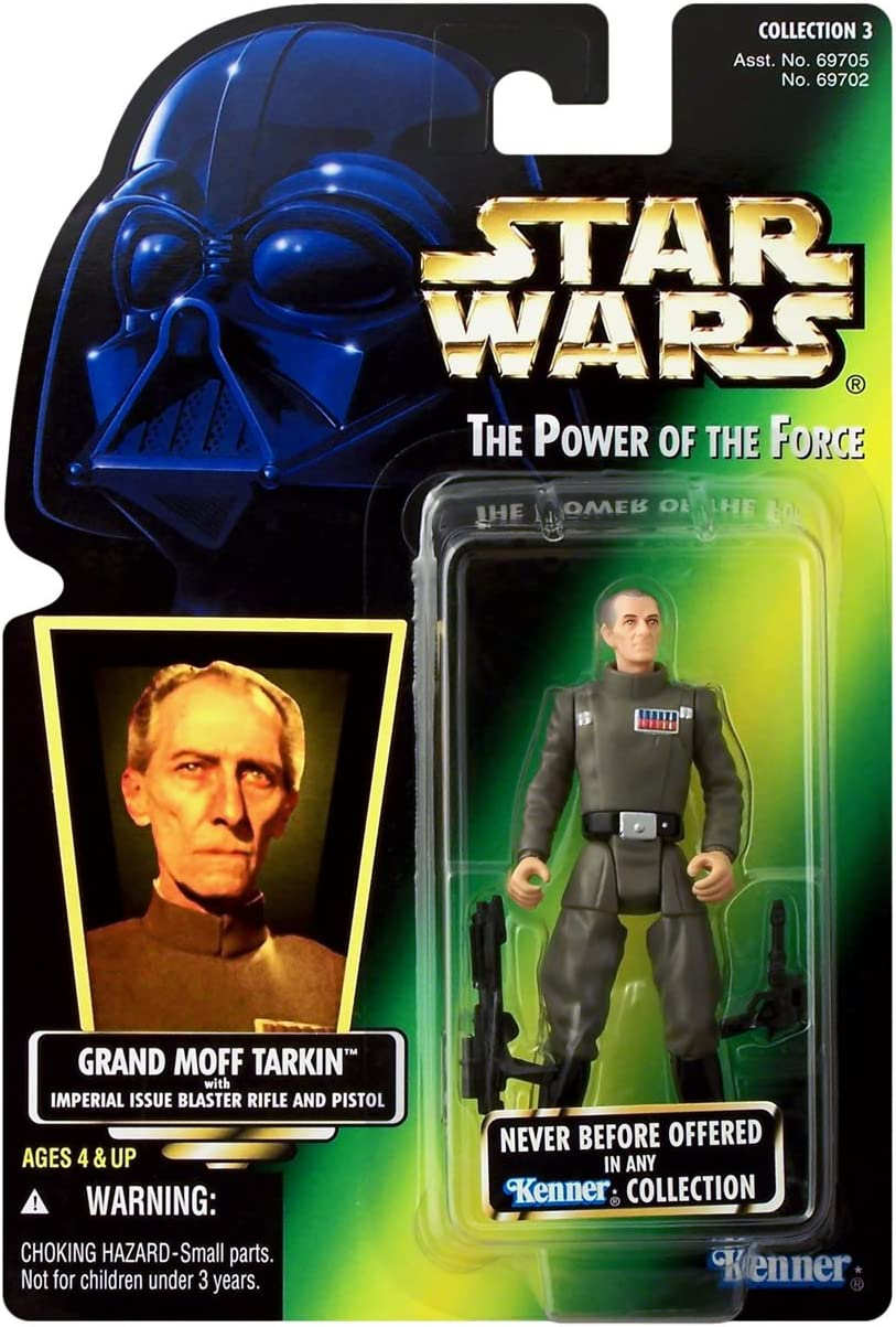 Star Wars: Power of The Force Green Card Grand Moff Tarkin Action Figure