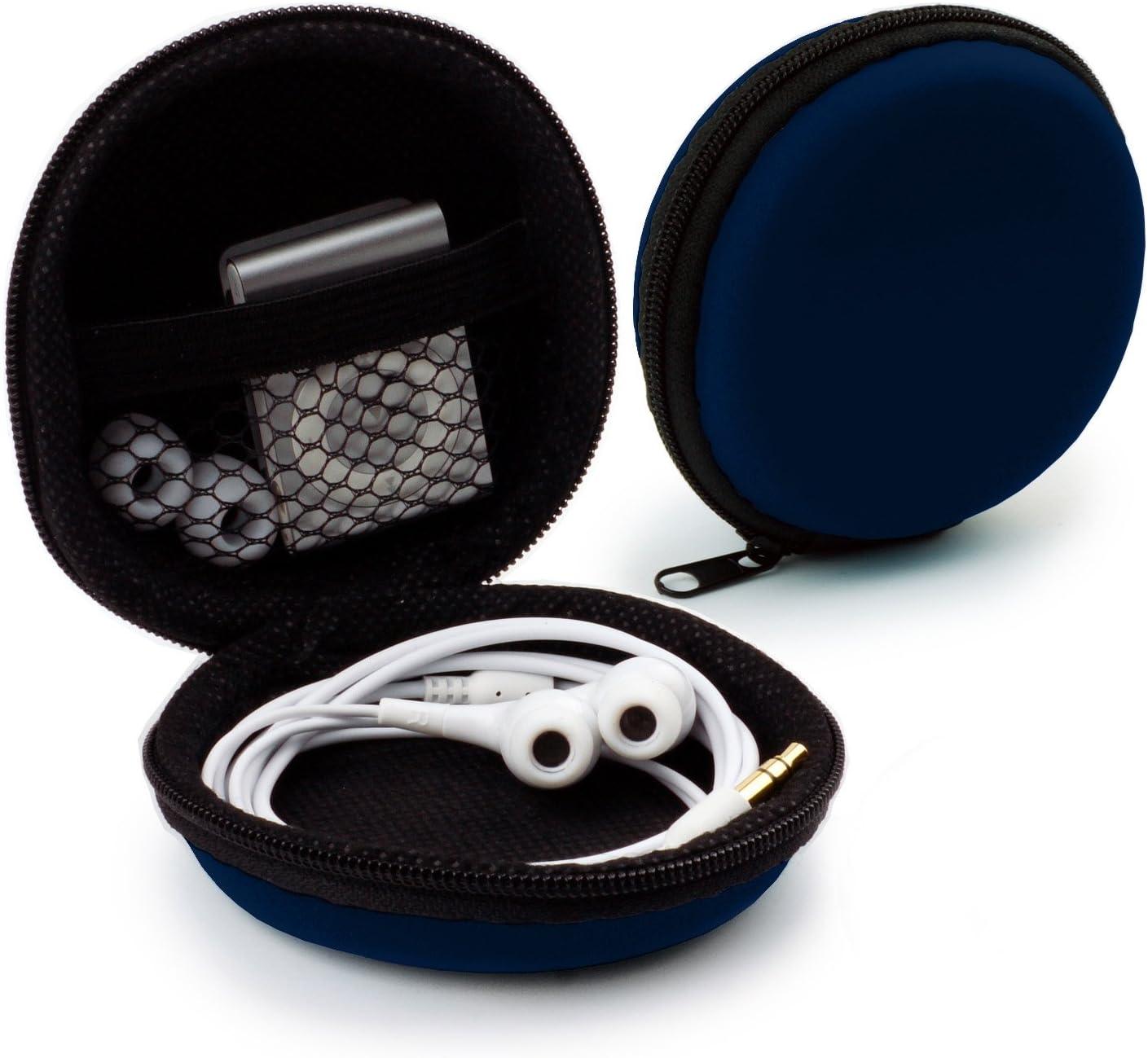 Dunkel Blau iPod Shuffle Zubeh/ör f/ür In Ear Case Ohrh/örer Mini Tasche Schutztasche Transport Box MyGadget Kopfh/örer Aufbewahrung USB Sticks