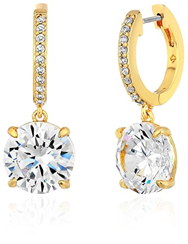 4db1e1867a674 Amazon.com  kate spade new york Clear Gold Drop Earrings  Jewelry