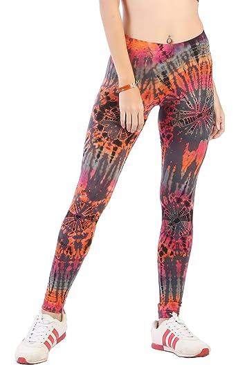 1e90bcd4a23b3 CandyHusky Women Tie Dye Yoga Pants Joggers Dance Workout Running Gym  Leggings (XL/XXL