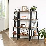 VASAGLE Industrial Ladder Shelf, 4-Tier