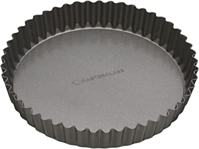 """Kitchen Craft MasterClass Non-Stick Fluted Flan Tin/Quiche Pan with Loose Base, 20 cm (8"""")"""