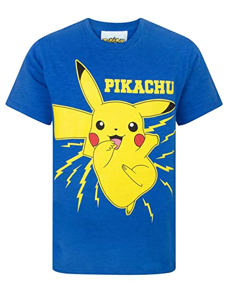 827bc3498 Amazon.com: Pokemon Pikachu Bolt Boy's T-Shirt: Clothing