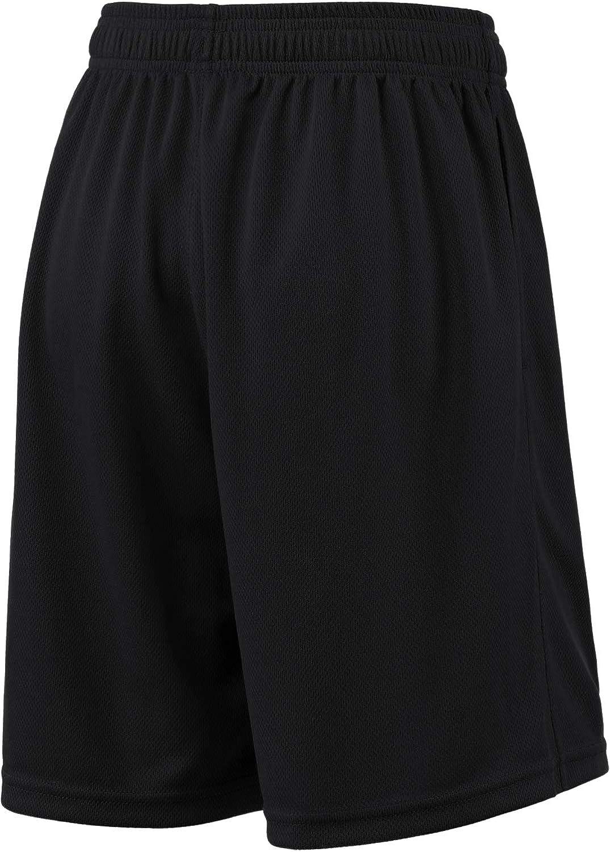 kbh11 TSLA Boys Active Shorts Sports Performance Youth HyperDri w Pockets 8 Small - Black Hyper Dri 1pack