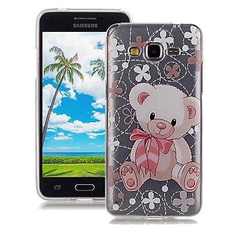 XiaoXiMi Funda de Silicona para Samsung Galaxy Grand Prime G530 Carcasa Transparente Soft Silicone Cover Clear Case Funda Protectora Carcasa Blanda ...