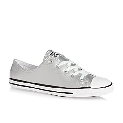 be75ca2baf74 Converse Womens Chuck Taylor All Star Dainty Silver Synthetic Trainers 37 EU
