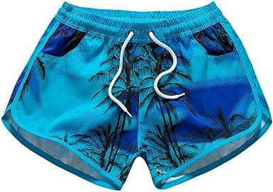 Amazon Com Jushye Pantalones Cortos De Playa Para Mujer De Secado Rapido Para Playa Surf Correr Nadar Clothing