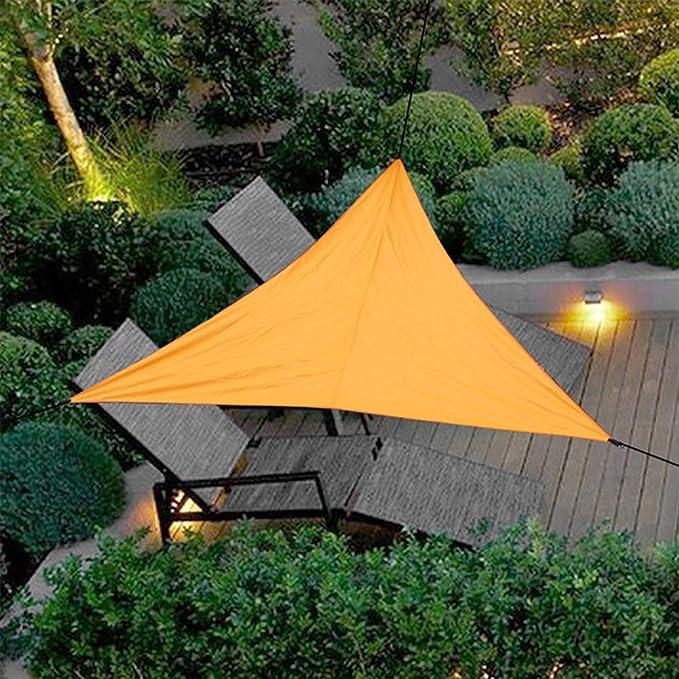 Uni-Wert Toldo Vela de Sombra triángulo Naranja, Impermeable Transpirable toldo 3 x 3 x 3 m, Prevenir eficazmente los Rayos UV. Adecuado para ...