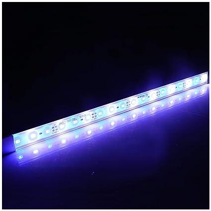 LTRGBW SMD 5730 12V DC 7.2W 18LED acuario luces LED de iluminación de aluminio a
