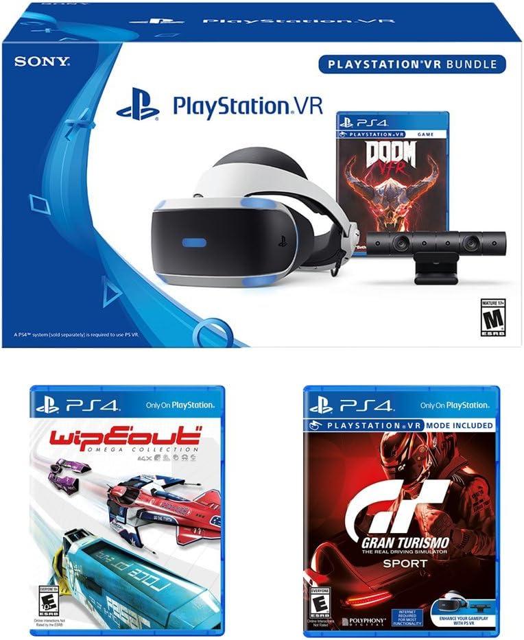 PlayStation VR Racing Bundle (4 artículos): PlayStation VR auriculares, cámara PSVR, PSVR Gran Turismo Bundle Game, PSVR Wipeout Omega Collection Game: Amazon.es: Electrónica
