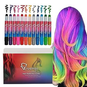Amazon.com: Qivange Hair Chalk Pens, Gift for Kids, 12 Temporary ...
