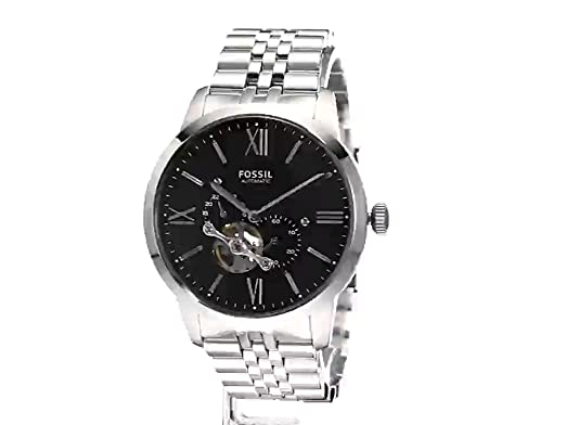 Amazon.com: Fossil Townsman Black Dial Automatic Mens Watch ME3107: Watches