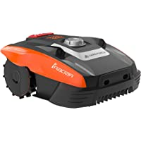 YARD FORCE Compact 400Ri Robot cortacésped, 20 V, Negro/ Naranja, 400 m² - smarte App Steuerung