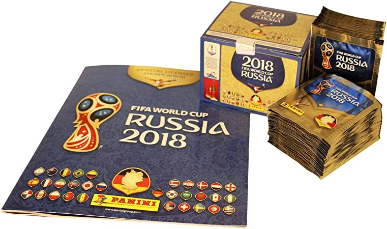 Panini FIFA 2018 Album con Display Cromos: 100 X 5=500 Sticker - Version 682 pcs: Amazon.es: Juguetes y juegos