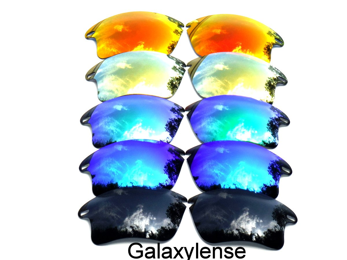 Galaxy Replacement Lenses for Oakley Fast Jacket XL Black&Blue&Green&Gold&Red Color Polarized 5 Pairs