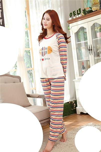 Women in tight pajami