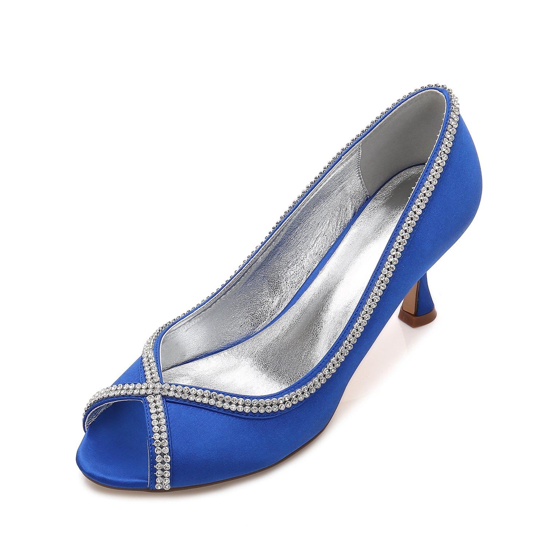 Qingchunhuangtang@ Hochzeit Party Schuhe Strass Fish Head Schuhe Täglich Satin   Schuhe mit Hohen Absätzen Täglich Schuhe Arbeit Schuhe 7fddfc