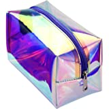 Holographic Makeup Bag, Cambond Clear Cosmetic Bag Large Iridescent Makeup Pouch Toiletry Organizer Cute Pencil Case Statione