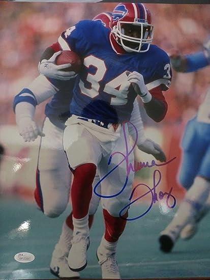 70a67e47a16 Autographed Thurman Thomas Photograph - OVERSIZED 11x14 COLOR POSE - JSA  Certified - Autographed NFL Photos
