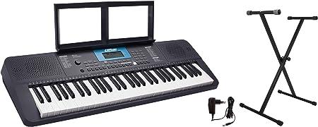 Clifton 6210c - Teclado LP6210C, USB, MIDI, 61 teclas sensibles al tacto, fuente de alimentación, rueda de Pitch-Bend