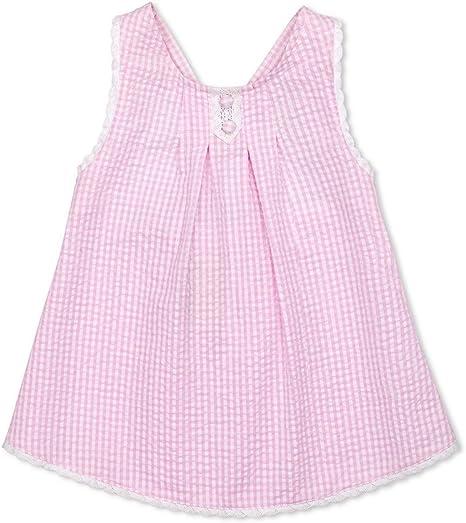 Bata tirantes cruzadas – algodón y encaje blanca – niña niño – Anaïs rosa Rose Talla:4 años: Amazon.es: Bebé