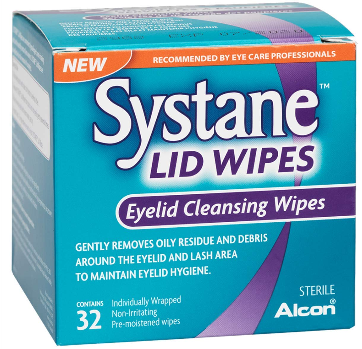 Systane Lid Wipes - Eyelid Cleansing Wipes - Sterile, Count of 32 by Systane