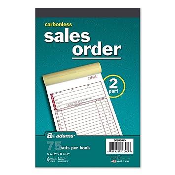Amazon.com : Adams Carbonless 2 Part Sales Order Forms, 5 Books/75 ...