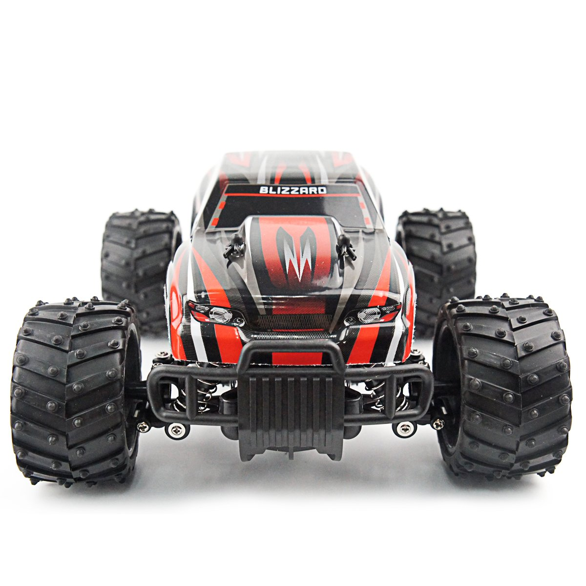 Fistone RC Car 2.4G High Speed Racing Car 20km/h 1:16 Scale 2WD Electric Radio Control Monster Truck Rock Off-Road Vehicle Buggy Hobby Electronic Game Toys Model