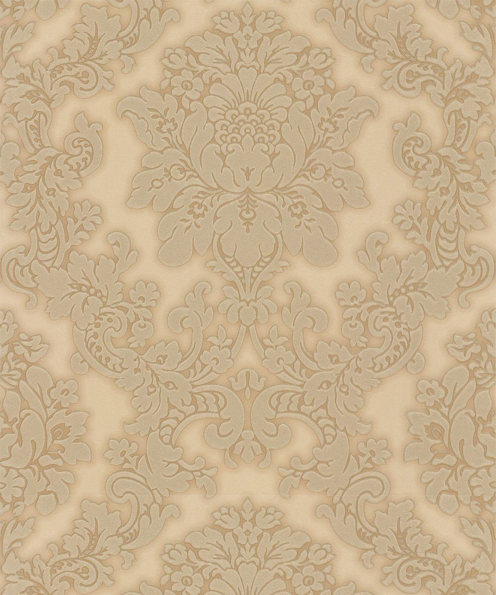 Arthouse Vintage Vicenza Damask Floral Glitter Textured Vinyl Wallpaper Gold  By Arthouse
