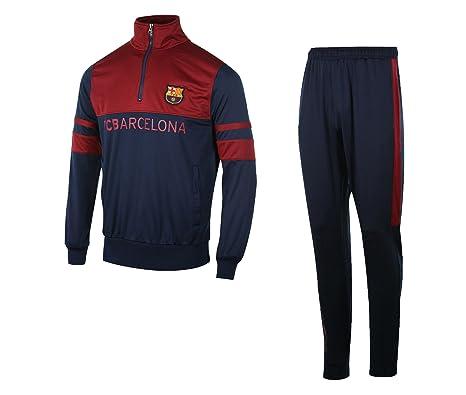 Chándal FC Barcelona azul/rojo, Hombre, azul, S: Amazon.es ...