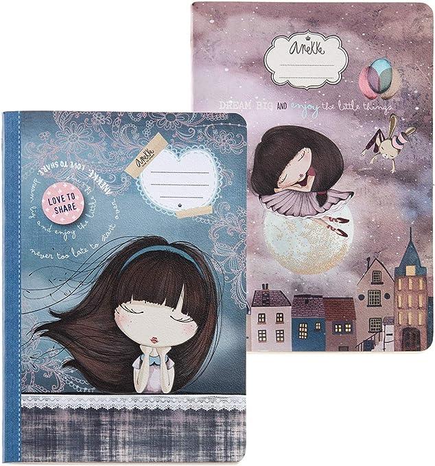 Miquelrius - Pack con 2 cuadernos cosidos A5 40 hojas punteadas ...