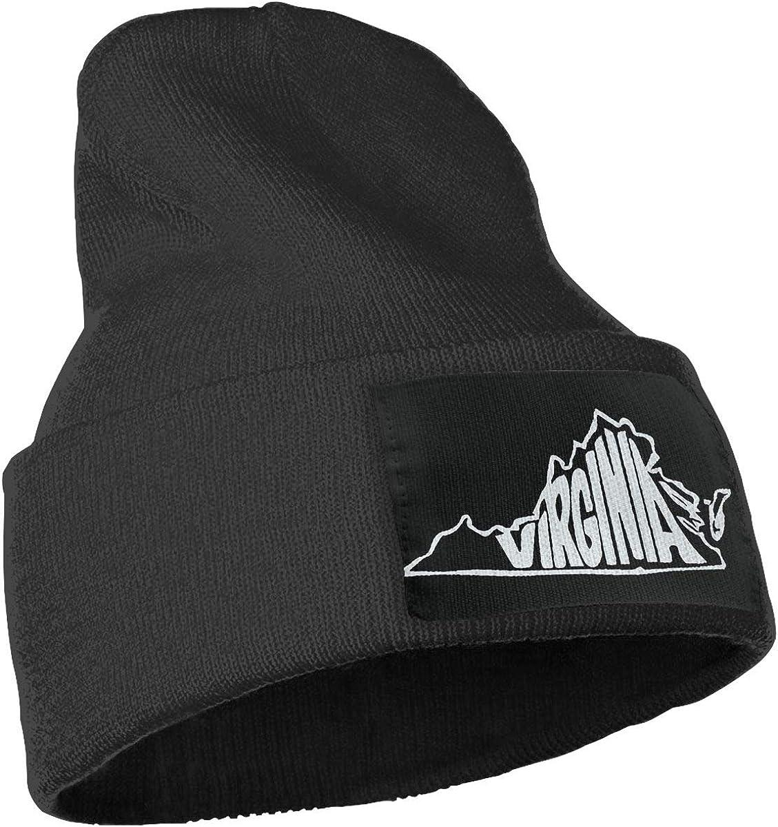 SLADDD1 Virginia State Warm Winter Hat Knit Beanie Skull Cap Cuff Beanie Hat Winter Hats for Men /& Women
