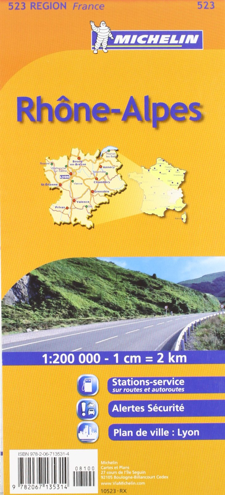 Rh ne Alpes Regional France Map (Michelin Maps)