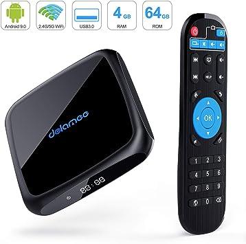 DOLAMEE Caja de TV inteligente 4K Ultra HD con doble 2.4G y 5.0G WiFi / 3D / USB 3.0 / Ethernet 10M / 100M / HDMI (D18 Reproductor Multimedia Mini) 2019 Último: Amazon.es: Electrónica