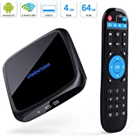 Android 9.0 TV Box,D18 Smart TV Box 4GB RAM 64GB ROM Amlogic Quad Core 64bit,Support 2T2R Dual Band WiFi 5G 2.4G/HDR H.265 3D 4K@60fps,USB 3.0 HDMI 2.1Media Player Box