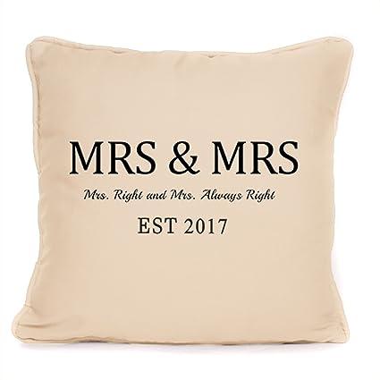 Amazon.com: Lesbiana regalo de boda – Mrs y Mrs ...