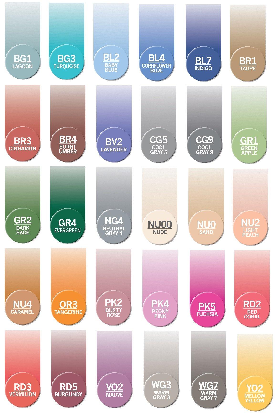 Chameleon Marker Ink Refill Kits Set of 30 Newest Colors, Each 25 ml (Bundle 30 Items)