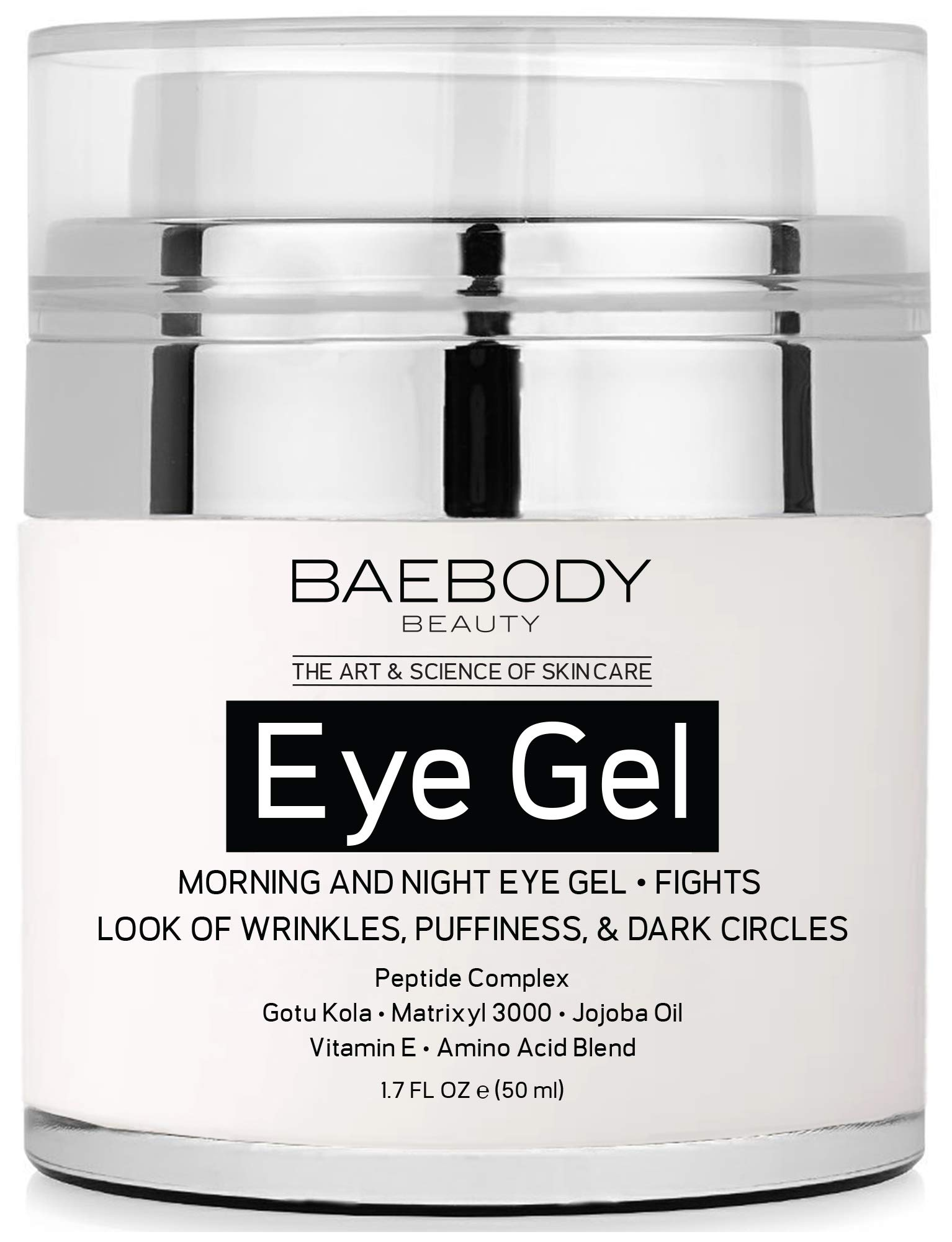 Baebody Eye Gel for Appearance of Dark Circles, Puffiness, Wrinkles and Bags - for Under and Around Eyes - 1.7 fl oz (50ml). by Baebody