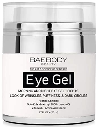8ea65b49e49 Amazon.com : Baebody Eye Gel for Appearance of Dark Circles, Puffiness,  Wrinkles and Bags. - for Under and Around Eyes - 1.7 fl oz. : Beauty