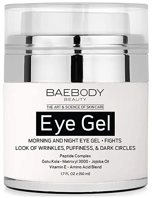 Baebody Eye Gel For Appearance Of Dark Circles, Puffiness, Wrinkles And Bags.   For Under And Around Eyes   1.7 Fl Oz. by Baebody