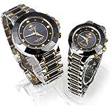 ReiZ ソーラー電波のペア腕時計/ペアウォッチ[丸型]【2個セット】 [天然ダイヤモンド4石]