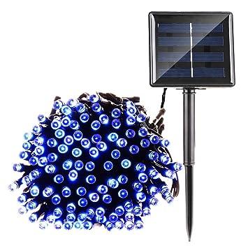 Qedertek Solar String Lights, 72ft 200 LED Fairy Christmas Lights, 8 Modes  Ambiance Lighting