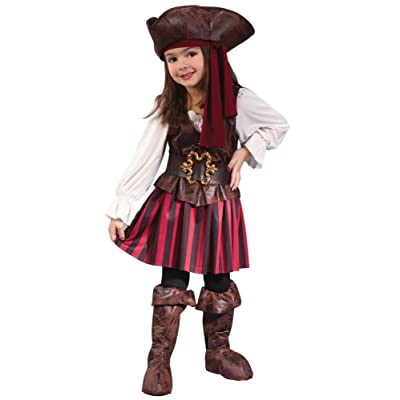 Fun World Baby Girl's Toddler Girl High Seas Buccaneer Costume: Clothing