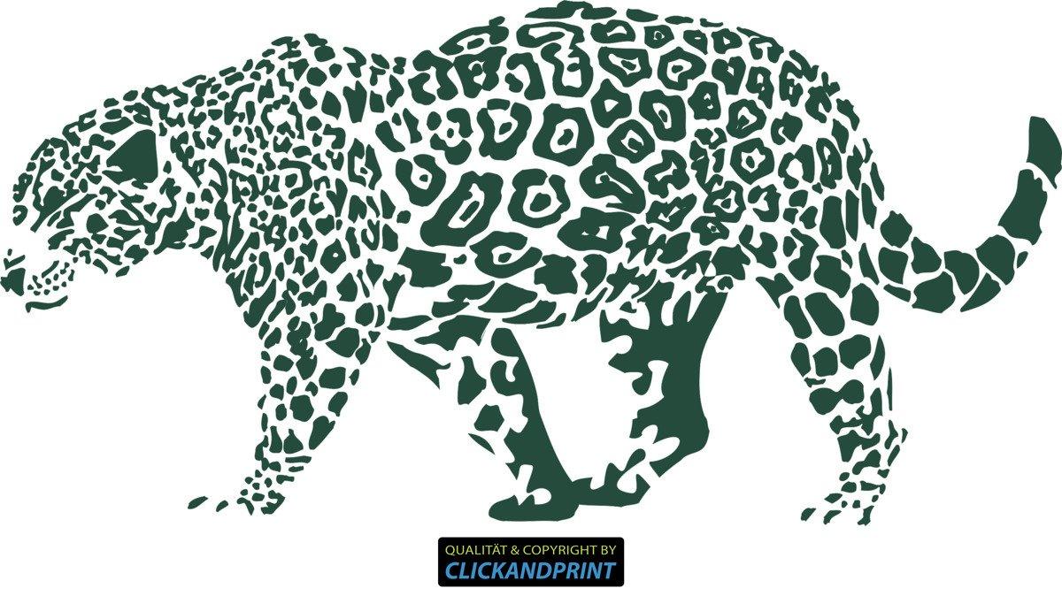 CLICKANDPRINT Aufkleber » Leopard, 150x74,4cm, Türkis • Wandtattoo   Wandaufkleber   Wandsticker   Wanddeko   Vinyl B073X7MSBX Wandtattoos & Wandbilder