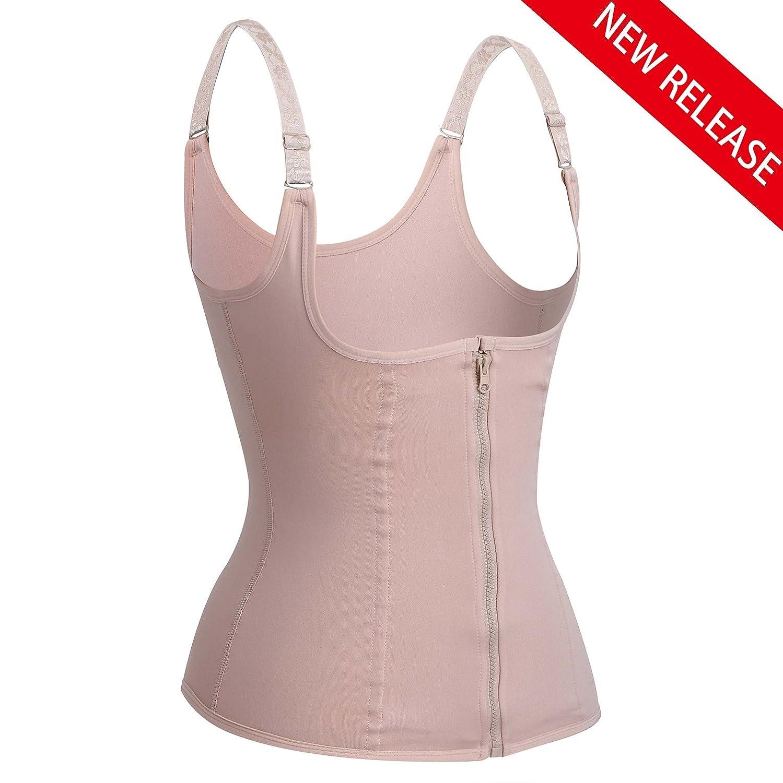 473731e9c26a5 Eleady Women s Underbust Corset Waist Trainer Cincher Steel Boned Body  Shaper Vest with Adjustable Straps at Amazon Women s Clothing store