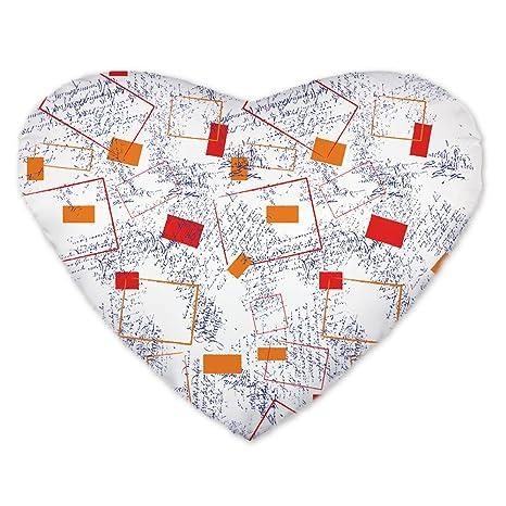 hebay algodón lino en forma de corazón Home decorativo funda ...