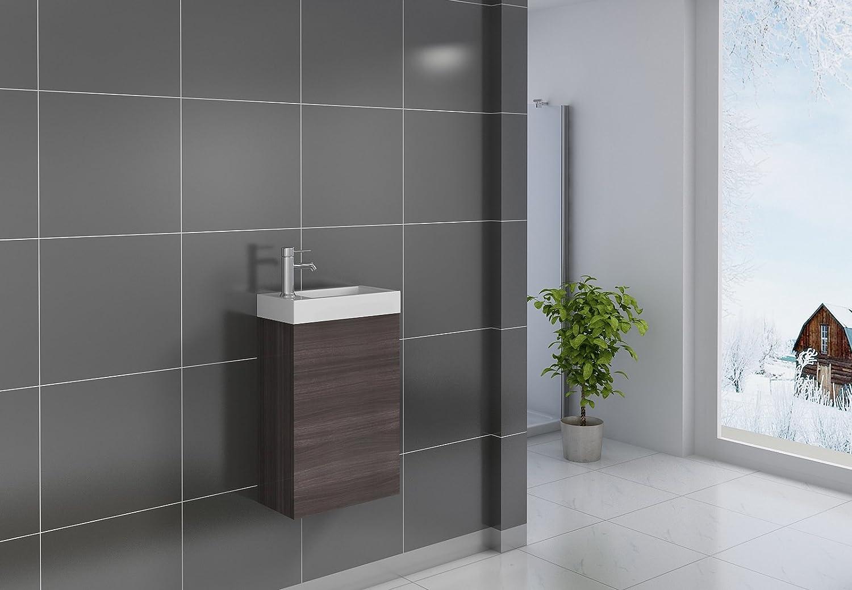SAM® Kleiner Badezimmer Waschplatz, Badmöbel in Holzoptik ...